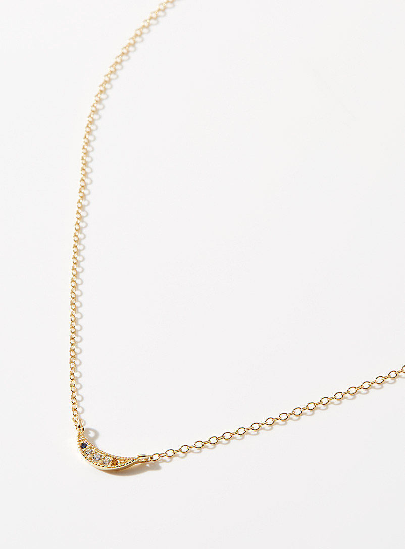 Midi34 x Simons Patterned Yellow Kelly necklace for women