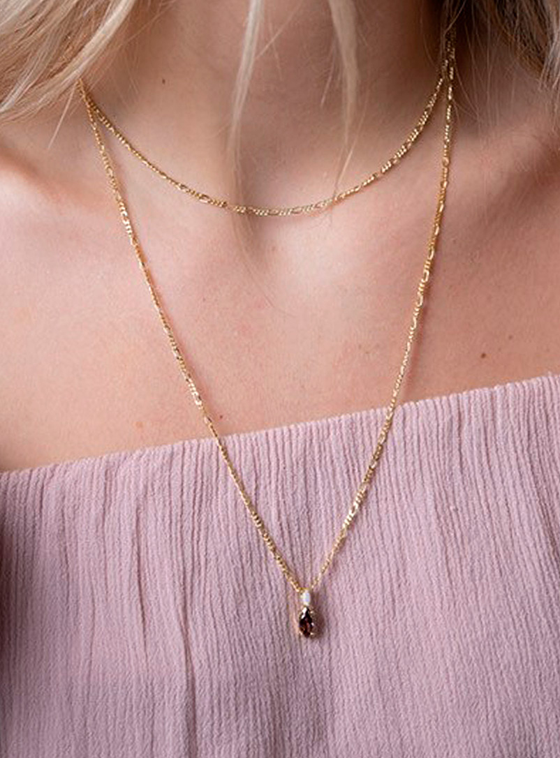 Midi34 x Simons Assorted gold  Margot gold necklace for women