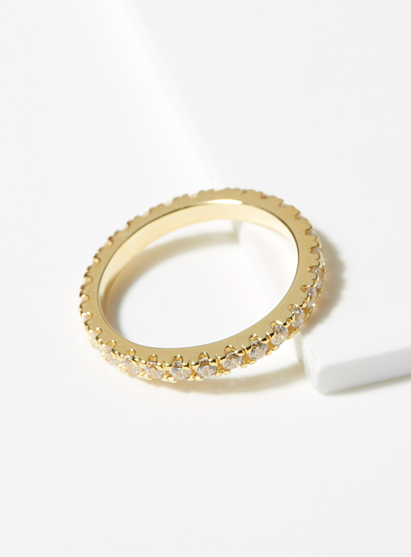Midi34 Golden Yellow Myriam ring for women