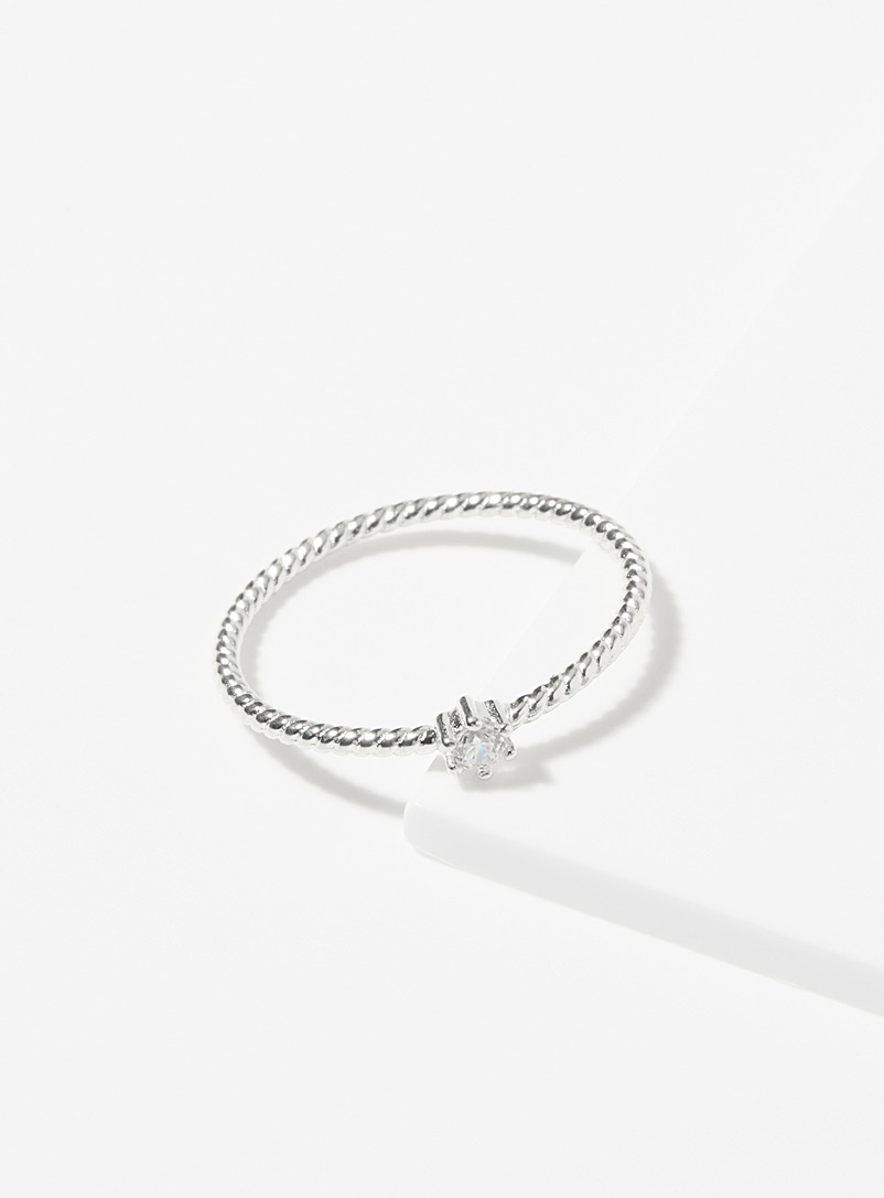 Midi34 x Simons Silver Silver Beatrice ring for women