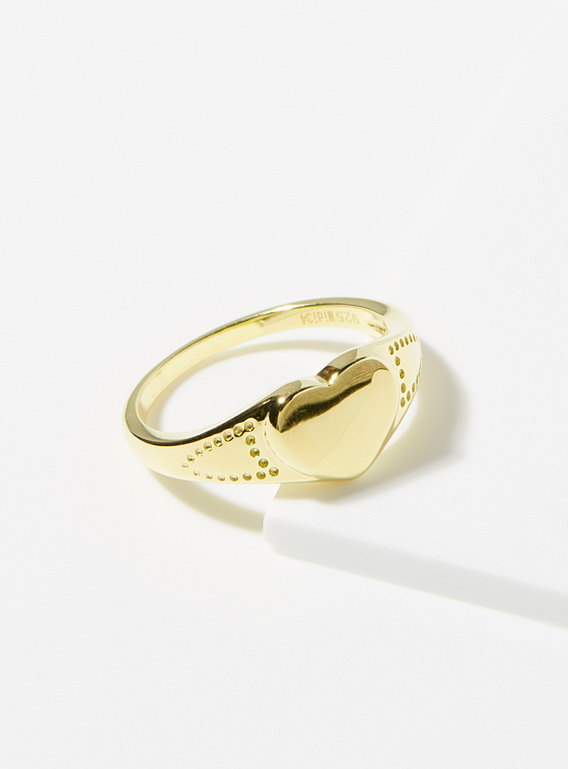 Midi34 x Simons Gold Gold Jasmine ring for women