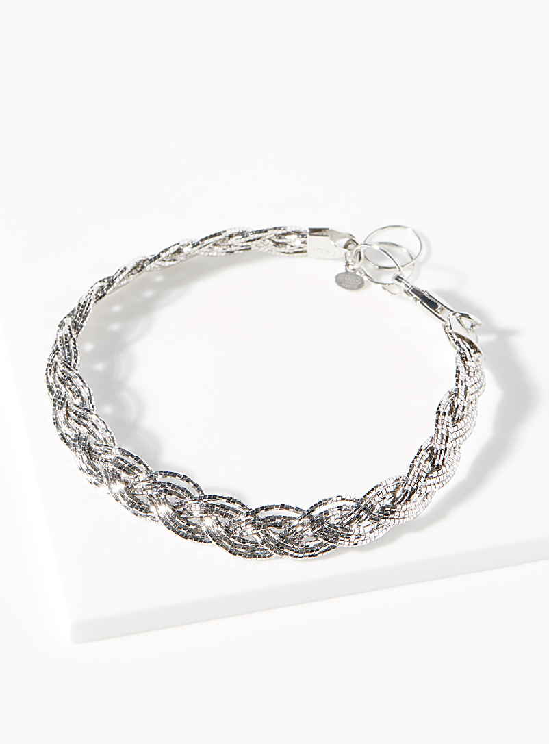 Simons Silver Silver braid bracelet for women