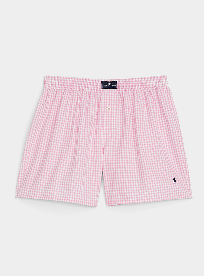 Polo Ralph Lauren Pink Gingham check loose boxer for men