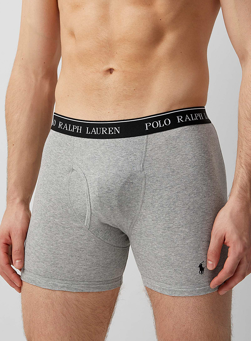 Polo Ralph Lauren Charcoal Classic boxer brief  3-pack for men