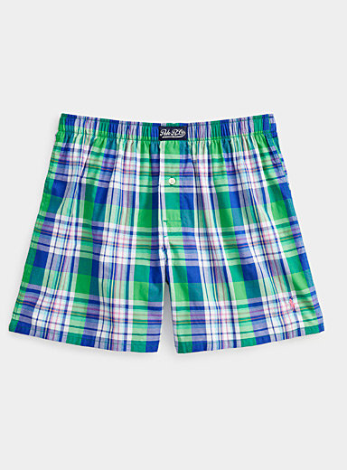 Scottish check loose boxer