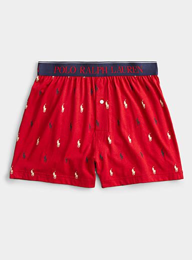 Repetitive logo loose boxer