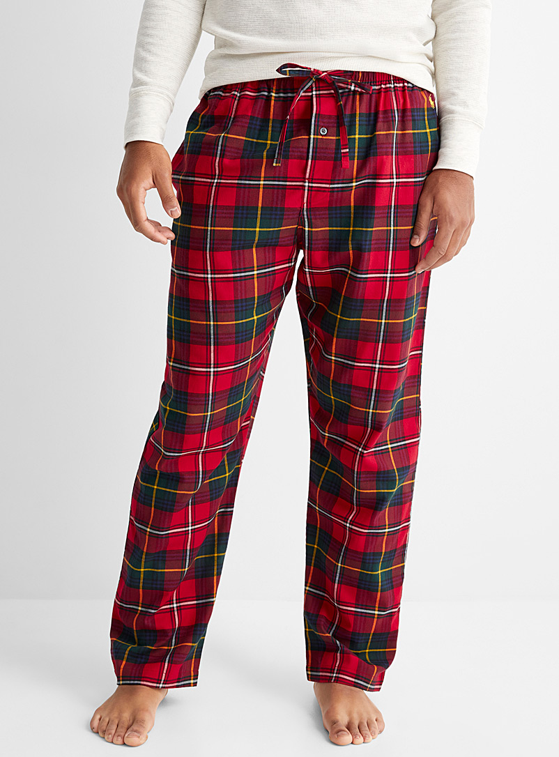 Polo Ralph Lauren Patterned Red Tartan flannel lounge pant for men