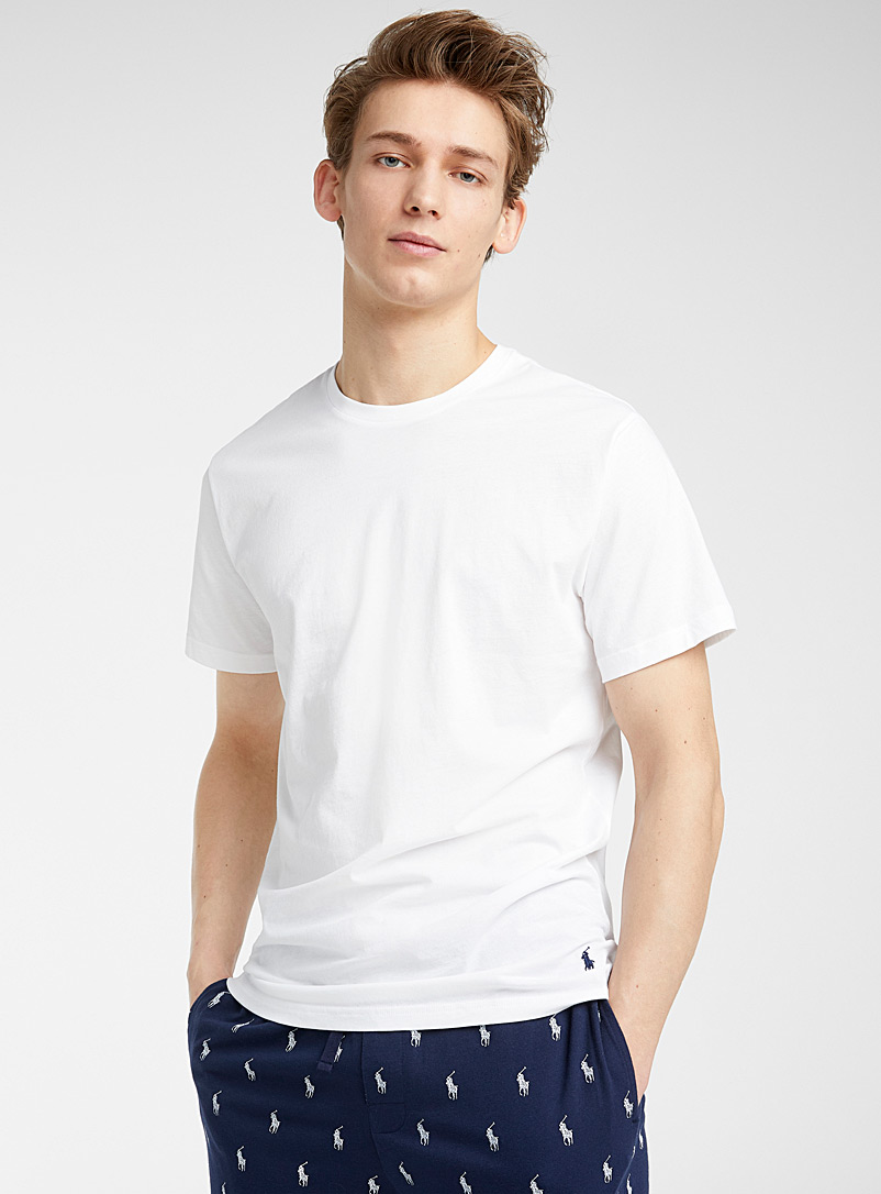 Polo Ralph Lauren White Solid lounge T-shirt for men