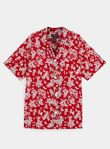 Hawaiian teddy bear pyjama shirt