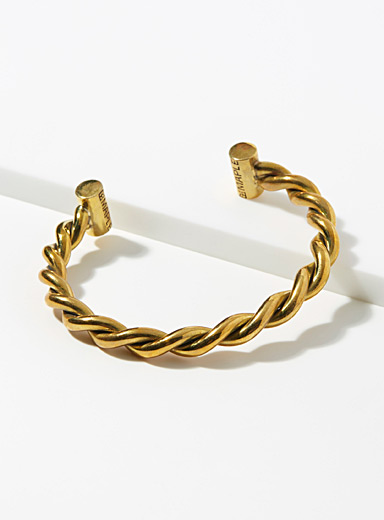 Golden twisted bracelet
