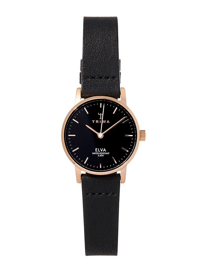 TRIWA Black Rose Elva watch for women