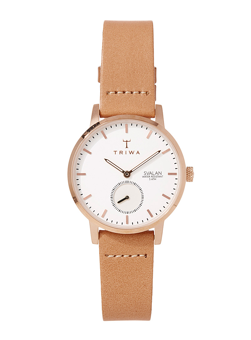TRIWA Cream Beige Rose gold Svalan watch for women