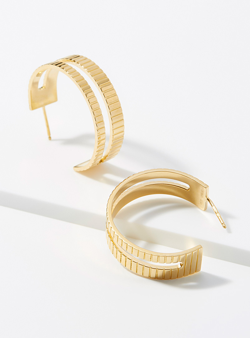 Slot hoops - Designer Jewellery - Golden Yellow