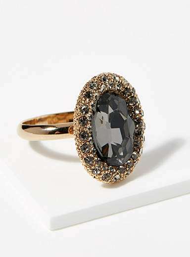 Simons Assorted grey  Majestic crystal ring for women