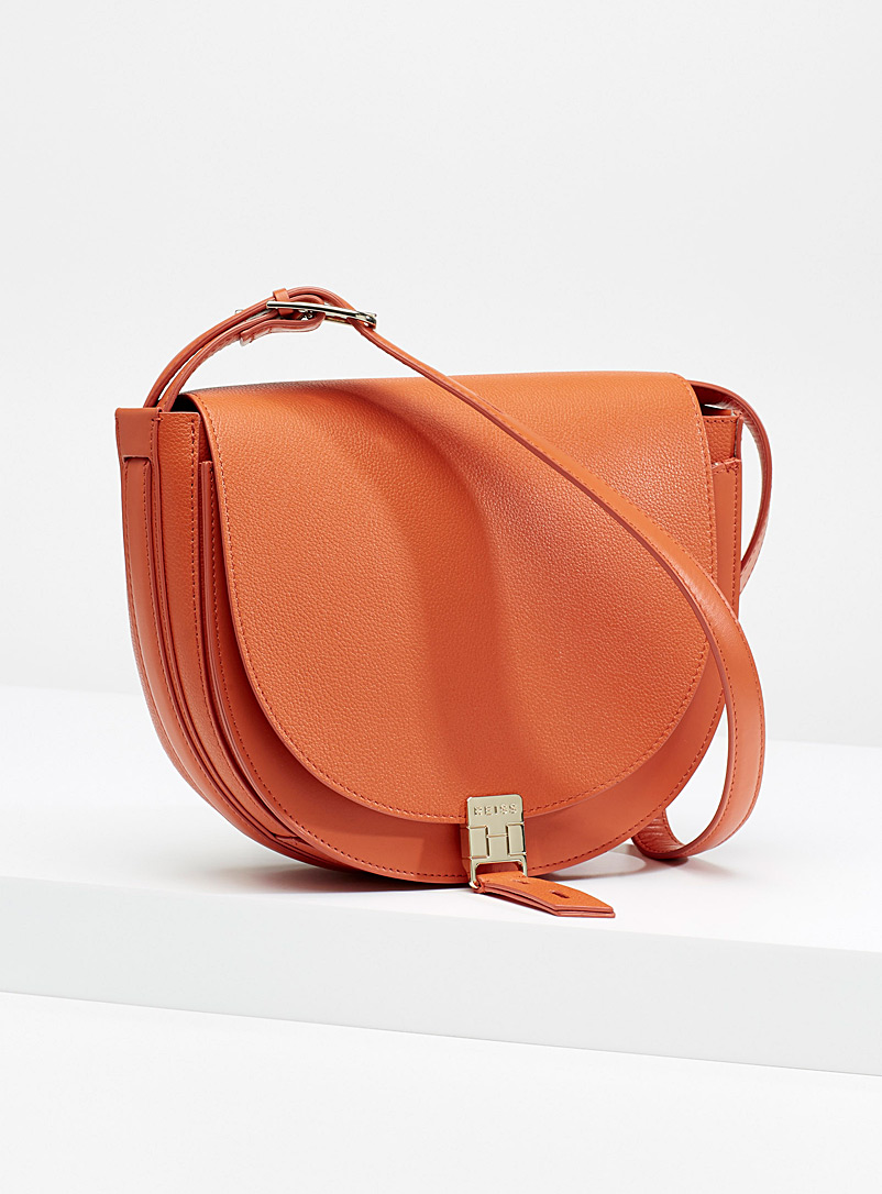 REISS Orange Hurlingham mini bag for women
