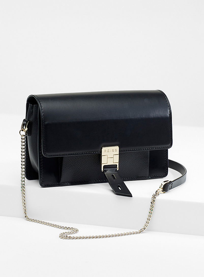 REISS Black Aubrey bag for women