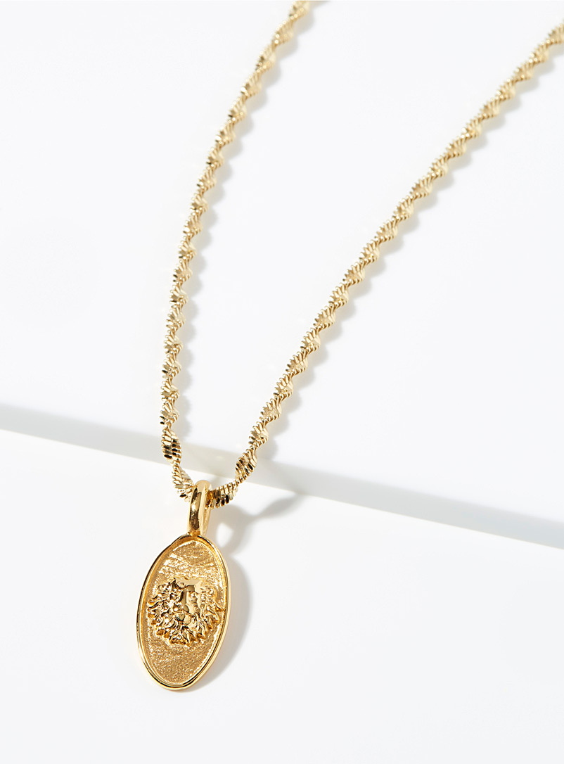 Hermina Gold Lion pendant necklace for women