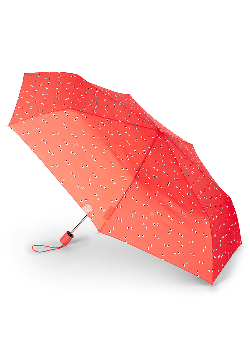 Playful tricolour pattern umbrella - Umbrellas - Patterned Red