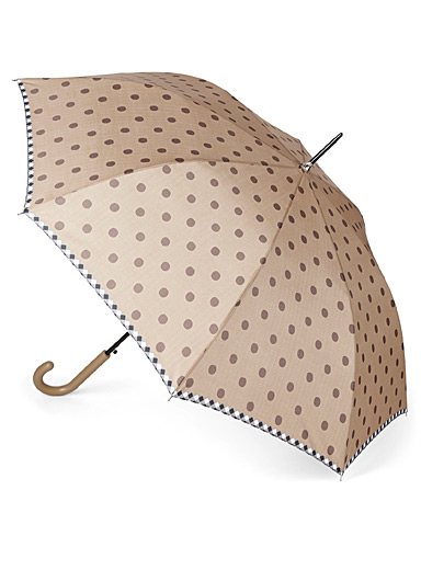 Two-tone dotted umbrella