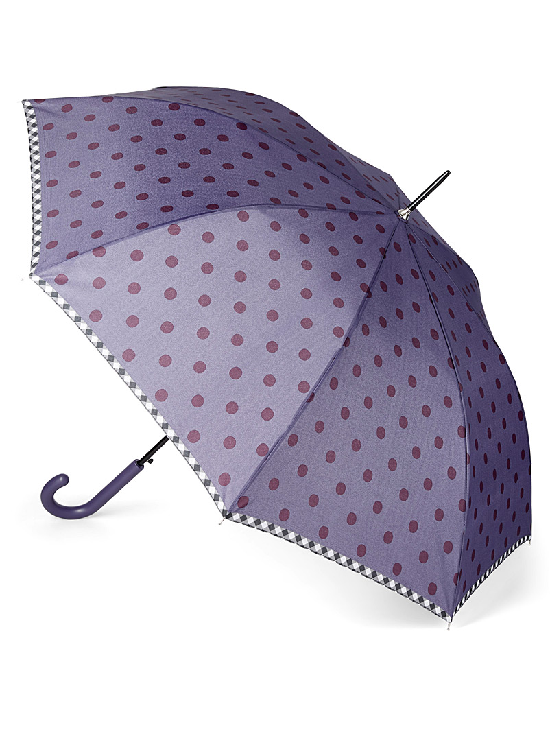 Two-tone dotted umbrella - Umbrellas - Patterned Blue