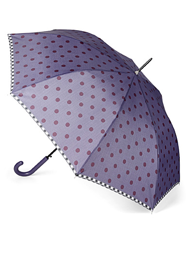 CLIMA bisetti Patterned Blue Two-tone dotted umbrella for women