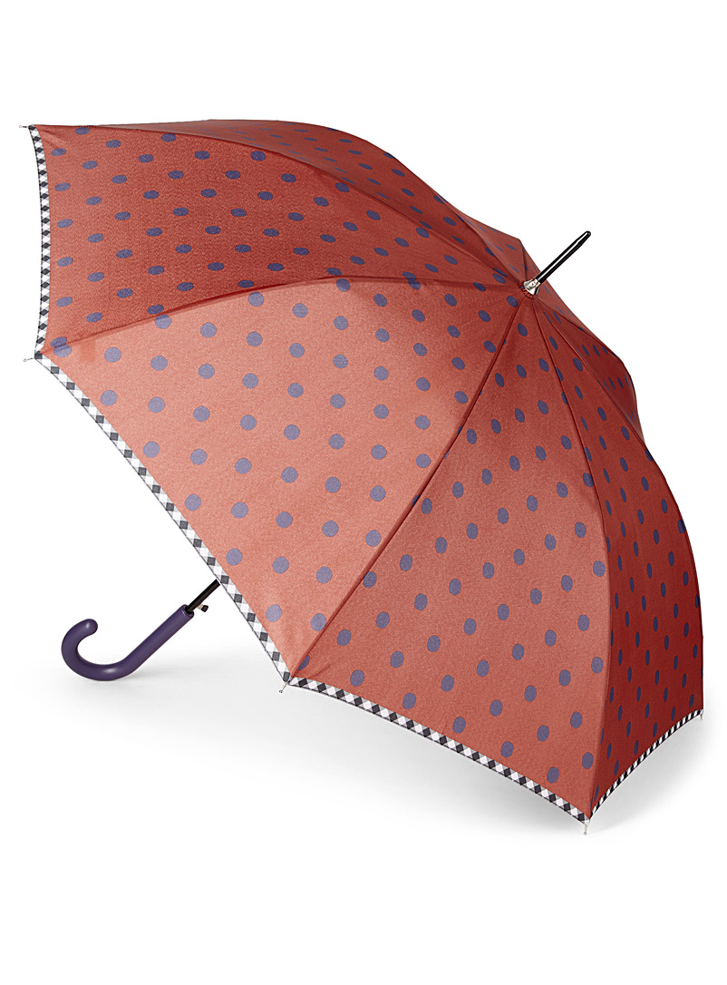 Two-tone dotted umbrella - Umbrellas - Patterned Orange