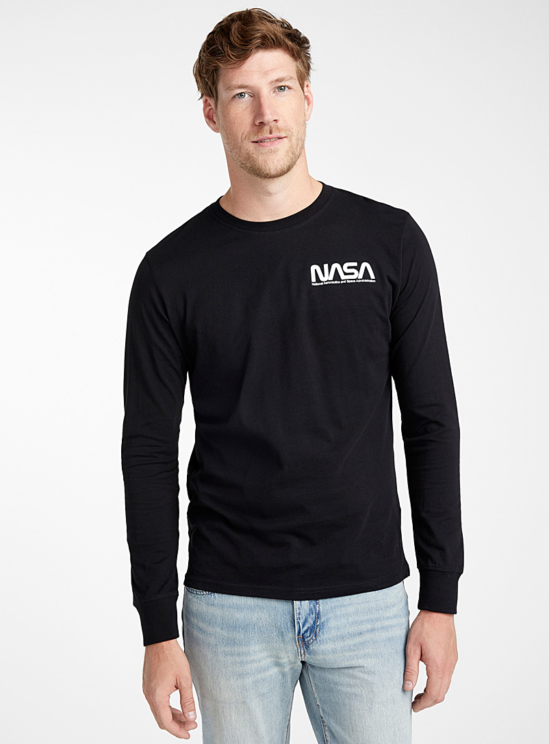 Long-sleeve NASA T-shirt - Logo wear - Black