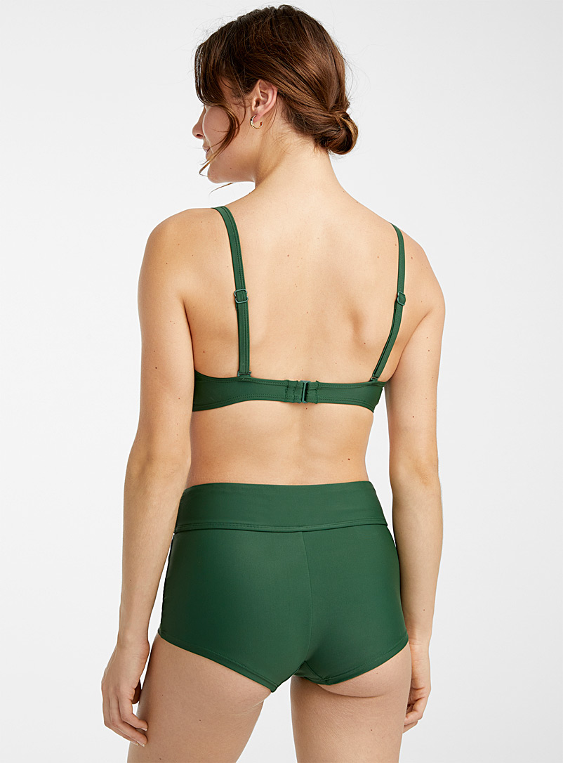 Simons Green Gathered moulded bandeau top for women