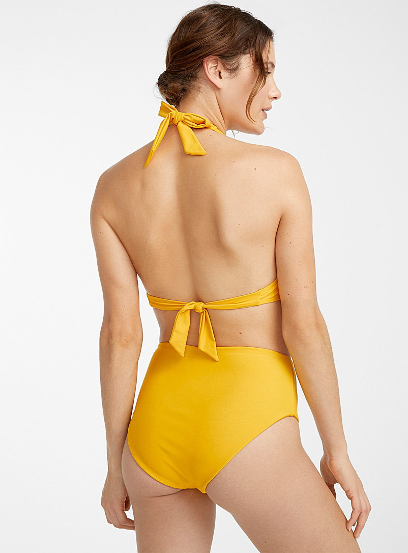 Simons Dark Yellow Reversible high-waist bottom for women