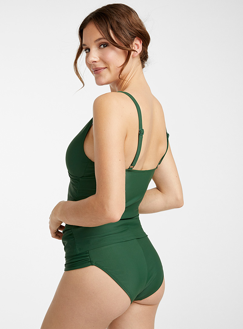 Draped-waist bottom - Bikini - Green