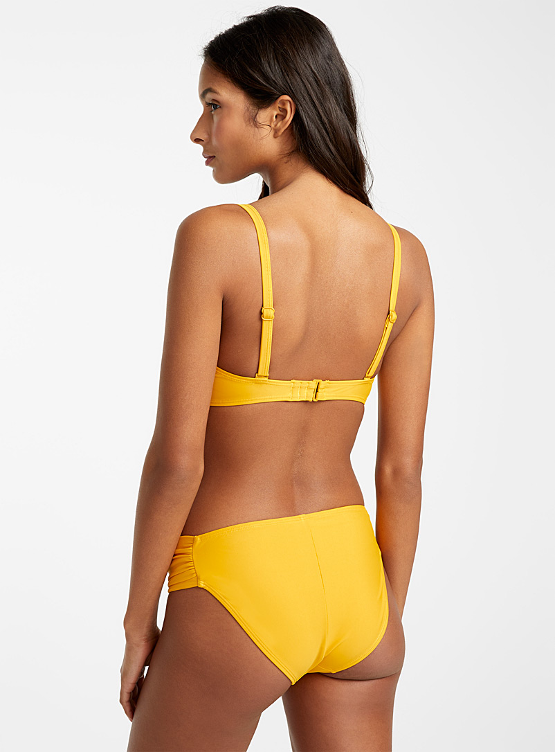 Draped-waist bottom - Bikini - Dark Yellow