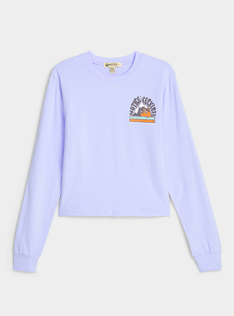 Notice The Reckless Blue Mountain bear tee for women