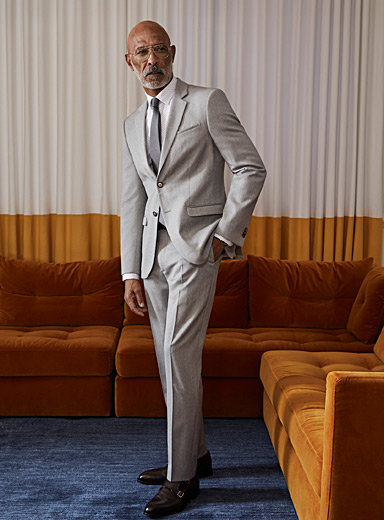 Marzotto light grey suit <br>London fit-Semi-slim