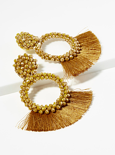 Lenora fringe earrings