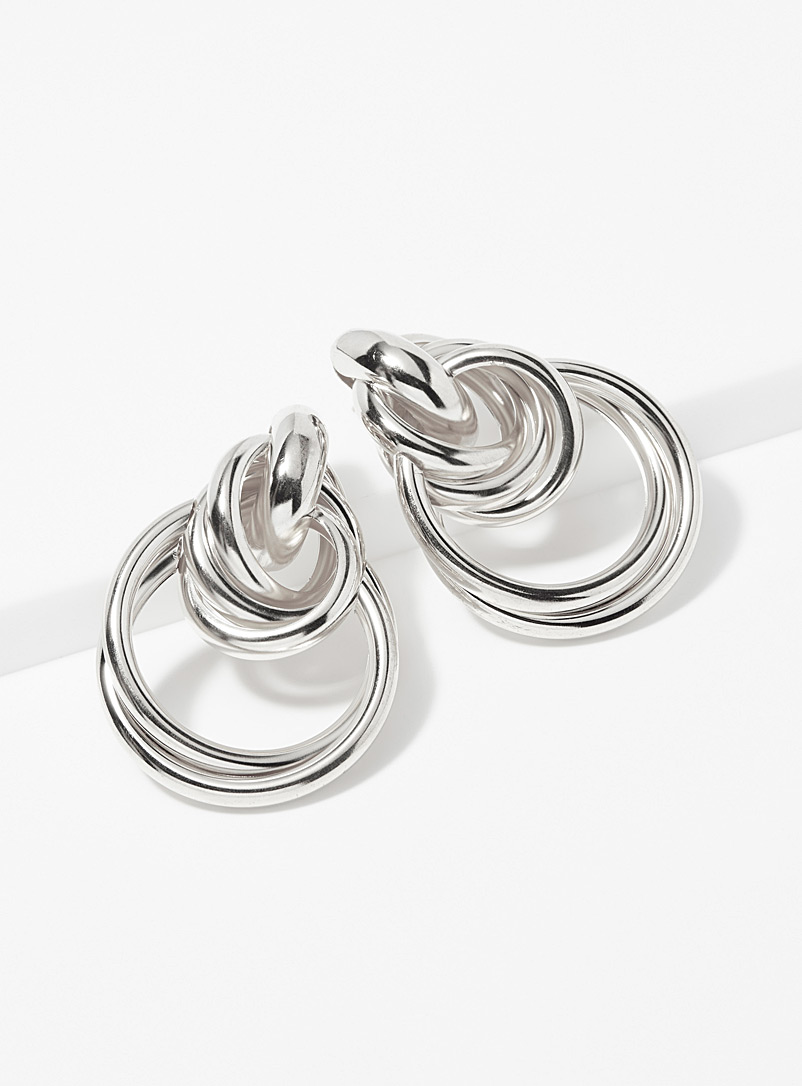 French Fiasco Silver Sarah hoops for women