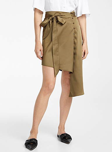 Kathryn Bowen Mossy Green Scarf skirt for women