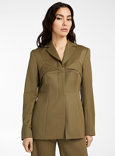 Kathryn Bowen Mossy Green Femme blazer for women