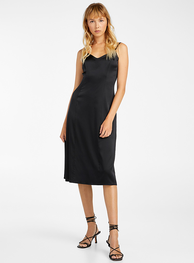 Kathryn Bowen Black Slip dress for women