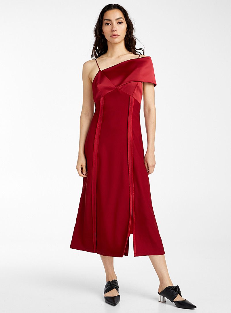 Kathryn Bowen Red Shawl dress for women