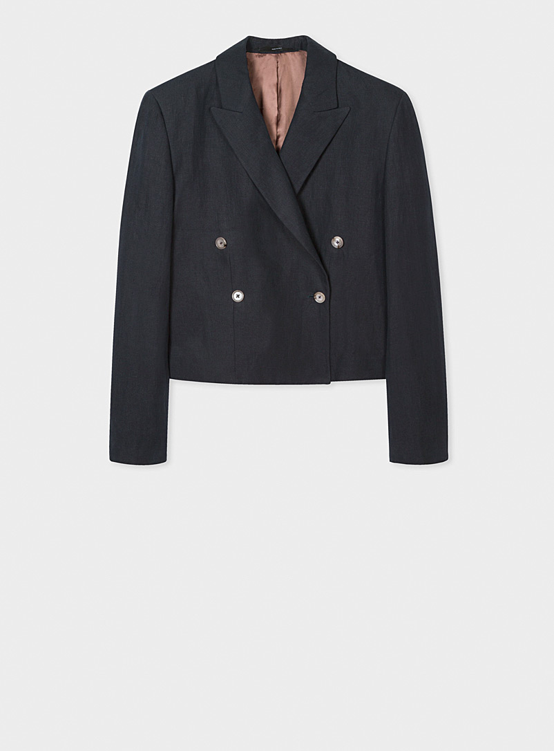 Paul Smith Marine Blue Cropped jacket for women