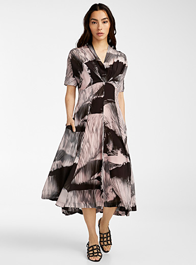 Paul Smith Black Abstract stripes dress for women