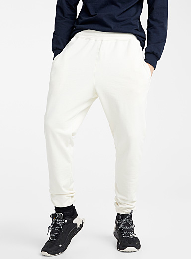 Upcycle Ivory White Eco-friendly sweatpant for men