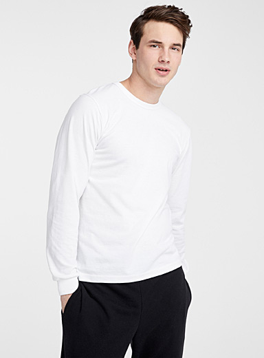 Long-sleeve recycled jersey T-shirt