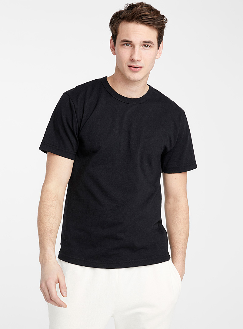 Upcycle Black Recycled jersey T-shirt for men