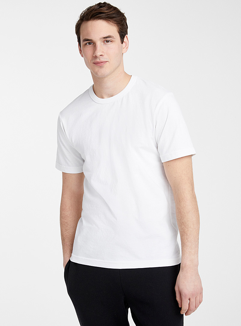 Upcycle White Recycled jersey T-shirt for men