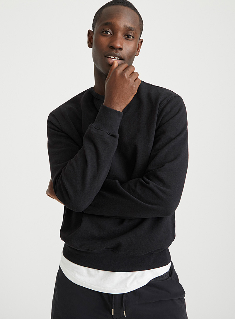 Upcycle Black Eco-friendly sweatshirt for men