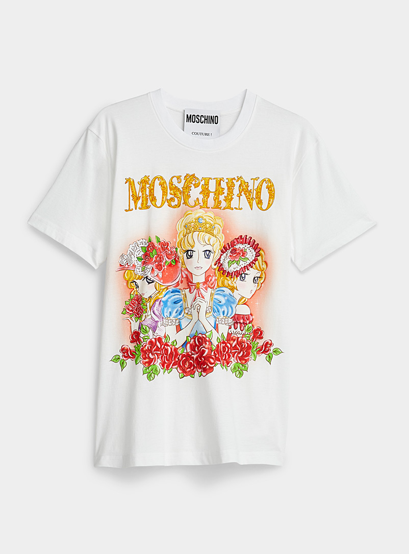 Moschino White Manga duchess T-shirt for women