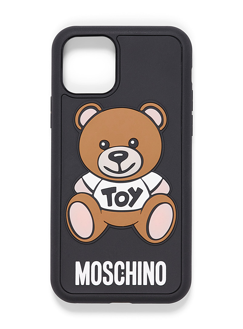 Moschino Patterned Black iPhone 11 Pro bear cub case for women