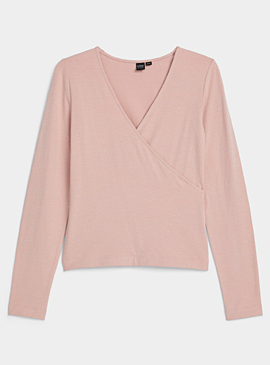 Icône Pink Crossover modal tee for women