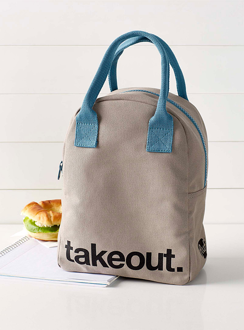 Takeout organic cotton lunch bag